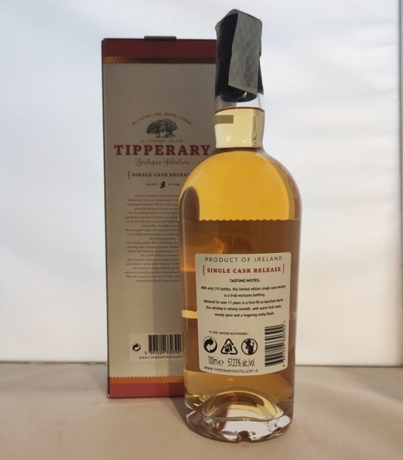 Tipperary Bourbon 2002-2020 Single Cask Release - Astucciato