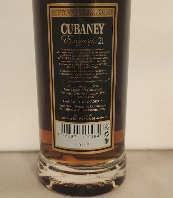 Cubaney Exquisito 21 Anos Solera XO