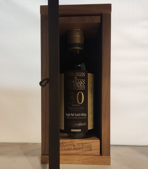 Bunnahabhain 30 Years Old Sherry Finish Oloroso Distilled 1989 and Bottled 2019 – Wilson & Morgan – Astucciato