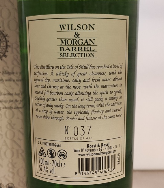 Ledaig 12 Years Old Tradition Oak Distilled 2008 and Bottled 2020 – Wilson & Morgan – Astucciato