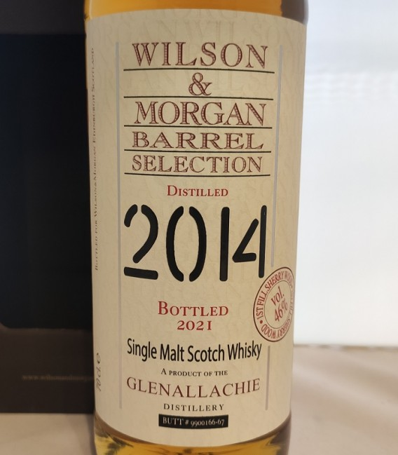 Glenallachie 1st Fill Sherry Wood Distilled 2014 and Bottled 2021 – Wilson & Morgan – Astucciato