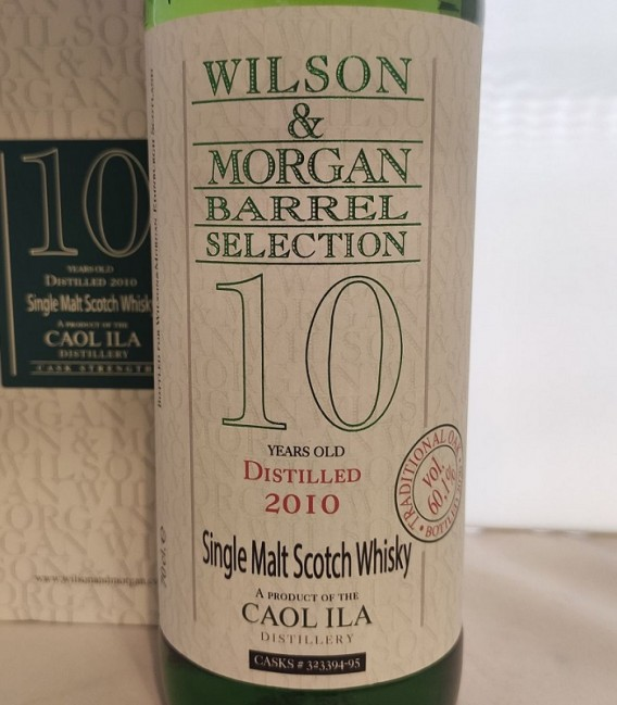 Caol Ila 10 Years Old Traditional Oak Distilled 2010 and Bottled 2020 – Wilson & Morgan – Astucciato