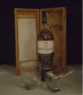 The Macallan Fine Oak 21 Years Old Triple Cask Matured Highland Single Malt Scotch Whisky - Cassa legno
