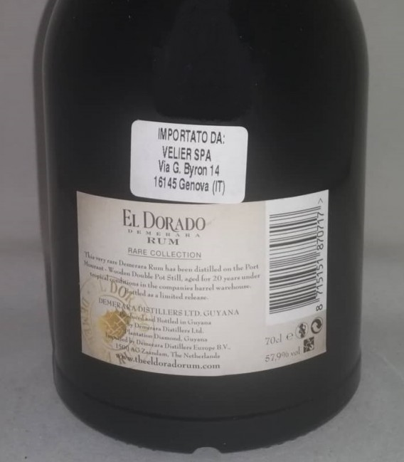 El Dorado Rum Rare Collection Port Mourant 1997 - Astucciato