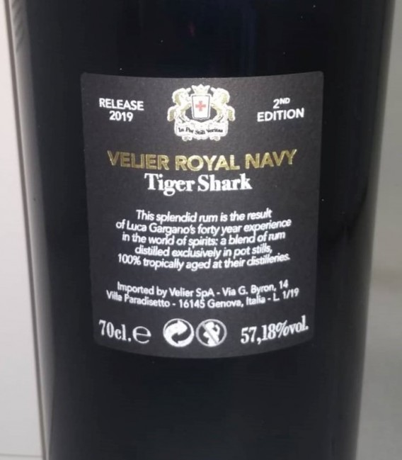Velier Royal Navy Tiger Shark 2nd Release - Astucciato