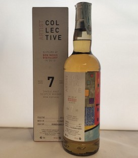 Artist Collective Single Malt Scotch Whisky 7 Years Old - Distilled at Ben Nevis Distillery in 2010 - Astucciato