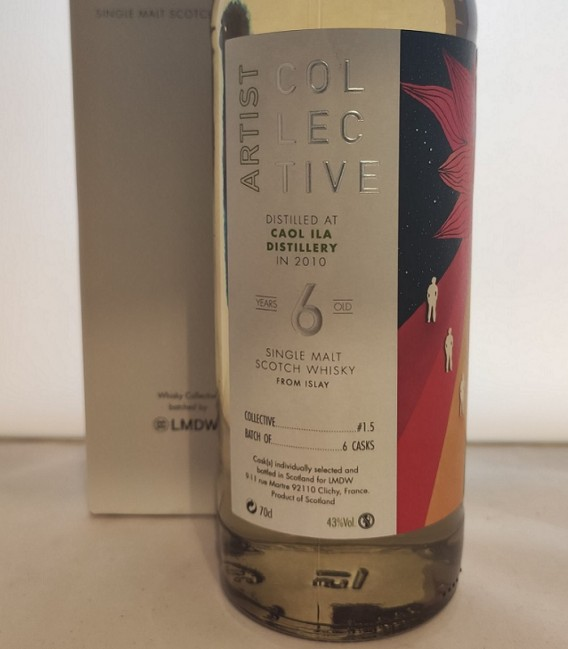 Artist Collective Single Malt Scotch Whisky 6 Years Old - Distilled at Caol Ila Distillery in 2010 - Astucciato