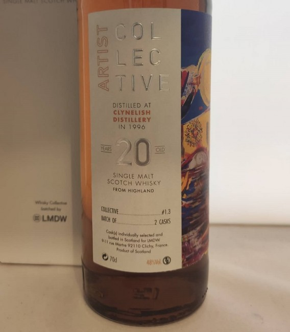 Artist Collective Single Malt Scotch Whisky 20 Years Old - Distilled at Clynelish Distillery in 1996 - Astucciato