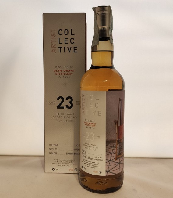 Artist Collective Single Malt Scotch Whisky 23 Years Old - Distilled at Glen Grant Distillery in 1995 - Astucciato