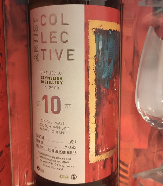Artist Collective Single Malt 10 Years Old - Distilled at Clynelish Distillery in 2008 - Astucciato con 2 bicchieri